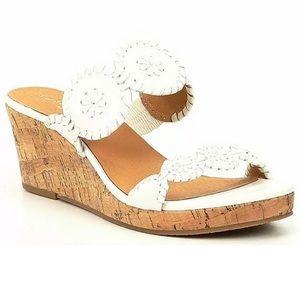 Jack Rogers 7.5M Lauren Cork Wedge Slip On Sandals
